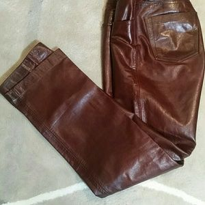Gap boot cut leather pants.
